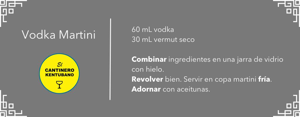 vodka martini receta